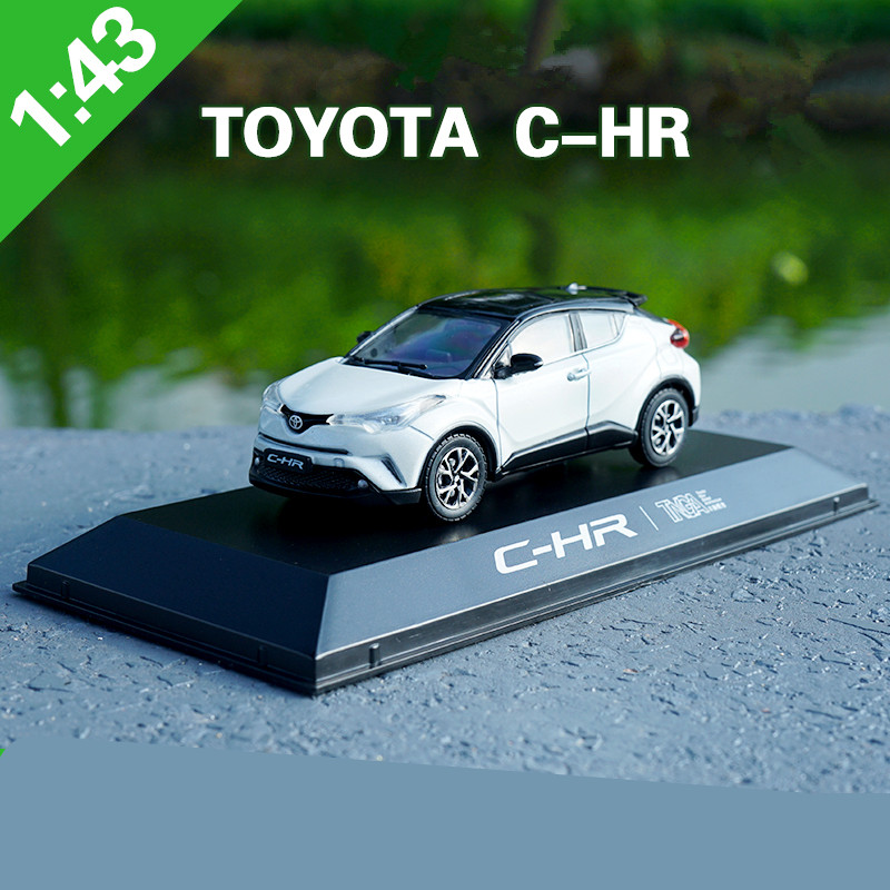 <font><b>1:43</b></font> scale alloy <font><b>car</b></font> model toys,high imitation TOYOTA C-HR CHR,collection toy vehicles,free shipping image