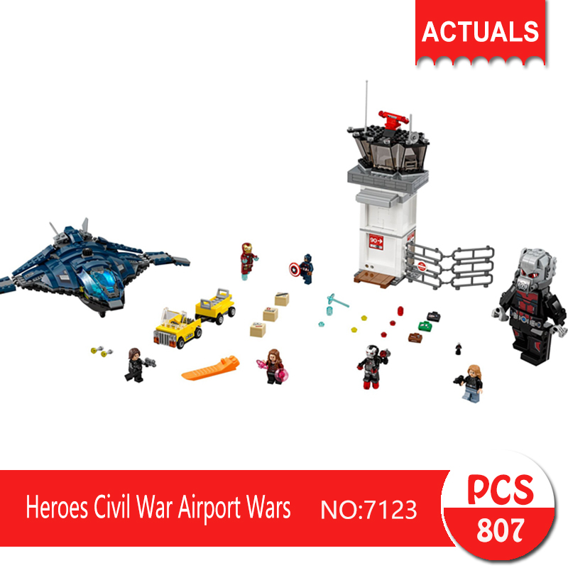 Decool 7123 807Pcs Super heroes Series Heroes Civil War Airport Wars  Building Blocks Bricks Toys For Children the history of england volume 3 civil war