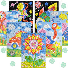 1pcs 12 Styles Can Be Choose Lot 3D Mosaics Puzzle Creative Sticker Game Animals Transport Arts Craft for Kids Educational Toy