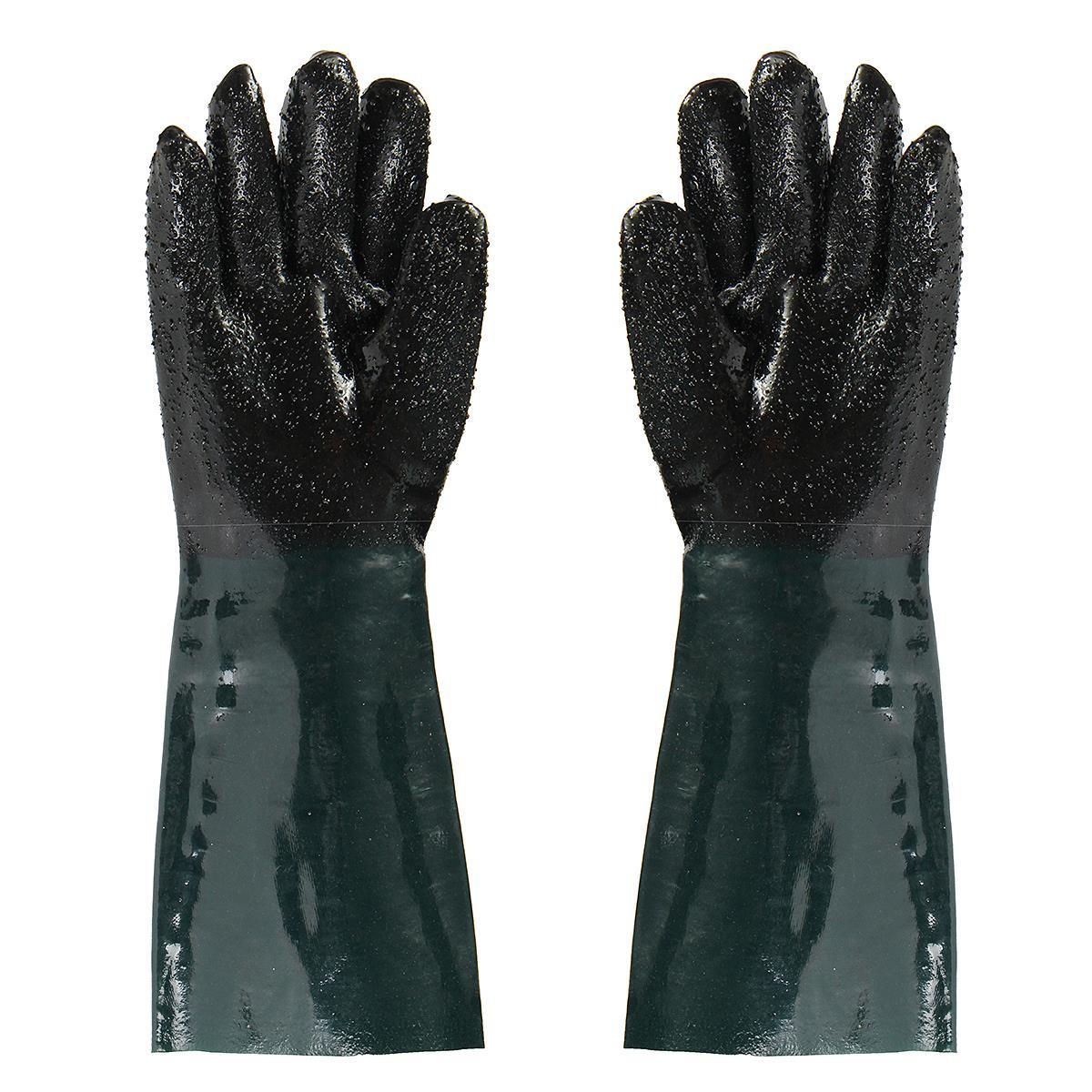 NEUE 48 CM Gummi Sandstrahler Sand Blaster Sandstrahlen Handschuhe Für Sandstrahl Schränke Schutzhandschuh