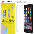 Paquete al por menor de vidrio templado para iphone 7 6 6 s plus pantalla protector de la película protectora de cristal para iphone 5s 5 se 5c 4S + retail caja