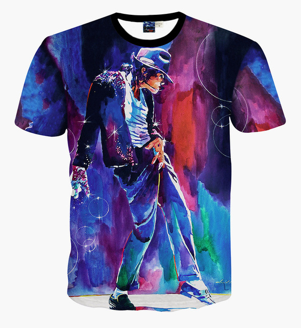 e9ecc91c Children's fashion clothing boys summer short sleeve casual T-shirts  Michael Jackson printed 3D t shirt