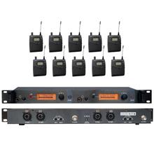 10 recievers drahtlose ohr monitor system UHF Wireless In-Ear Monitor System In Ohr Professionelle Bühnen Drahtloses Monitor-System