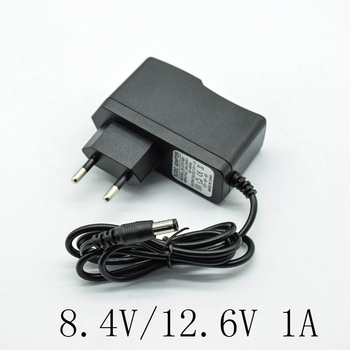 8.4V/12.6V 1A/1000mA Converter Adapter Dc Voeding Lader Eu Plug 5.5 Mm * 2.5mm(2.1 Mm) ac Naar Dc Voor 18650 Lithium Batterij
