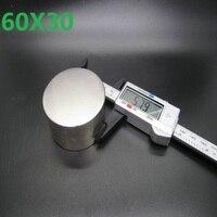 1 pcs Néodyme aimant 60x30mm gallium métal new super forte aimants ronds 60*30 Neodimio aimant permanent puissant magneti
