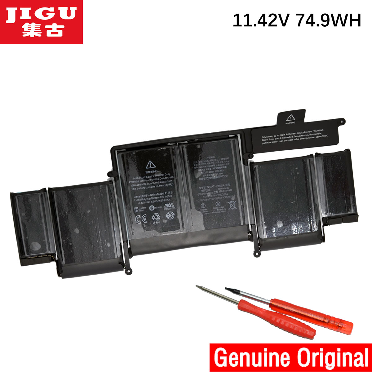 JIGU 11.42V nouvelle batterie d'ordinateur portable originale A1582 pour Apple MacBook Pro 13