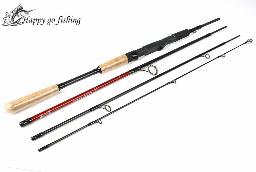 Fish King 4 Section 1.8m 2.1m 2.4m 99% Carbon Casting Rod Spinning Lure Fishing Rod For Pole