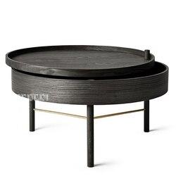 Natuurlijke Massief Hout Gezonde Handgemaakte Multi-functie Opslag Roterende Salontafel Moderne Eenvoudige Witte Eiken Thee Lade Tafel