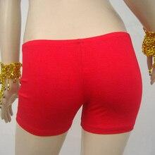 Новое поступление женский костюм для танца живота хлопковое безопасное Нижнее белье Короткие штаны обтягивающие леггинсы 14 цветов