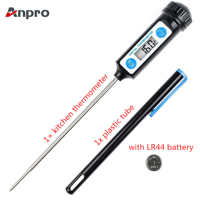 Anpro Electronic Digital Food Thermometer Cake Candy Fry BBQ Cooking Meat Temperature Household Thermometers with Long Probe