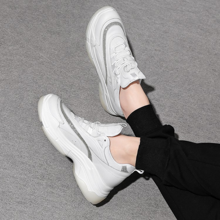 2019 Spring Women New sneakers Autumn Soft Comfortable Casual Thick soled Dad Shoes Fashion Lady Flats Female shoes for student in Women 39 s Vulcanize Shoes from Shoes