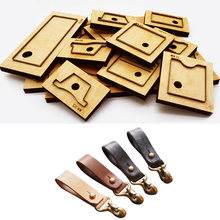 Сделай Сам кожаное ремесло кольцо для ключей Пряжка штамповочный