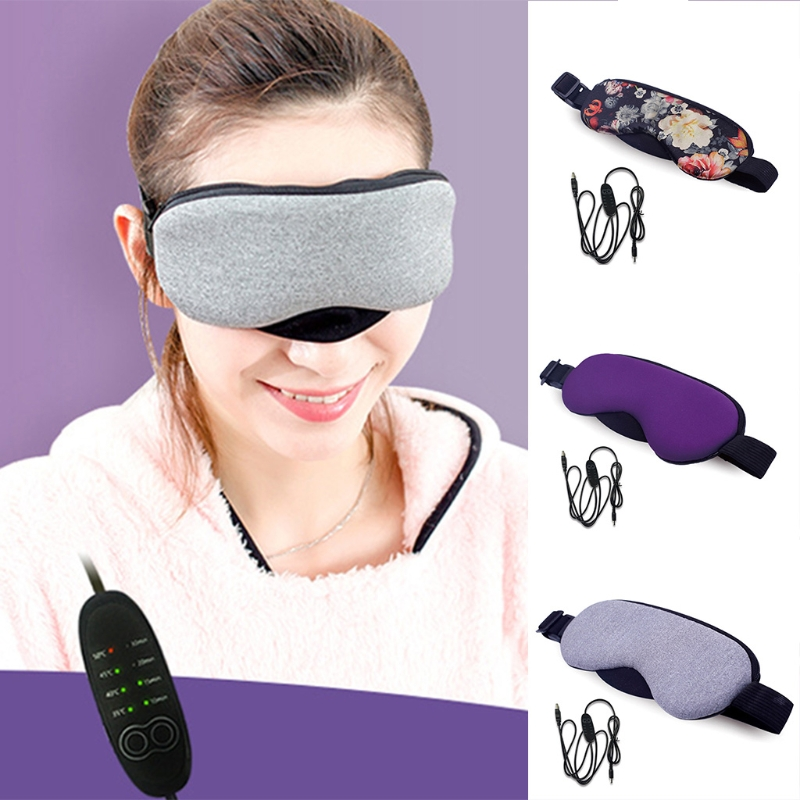 Free Shipping Kemei  New Temperature Control Heat Steam Cotton Eye Mask Dry Tired Compress USB Hot Pads Eye Care Hot!