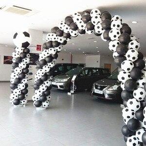 Image 4 - Globos de fútbol de alta calidad, 100 unids/lote, color blanco, decoración para fiesta, celebración
