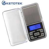 Ketotek MINI ขนาด 200G 500G 0.01 ความแม่นยำอิเล็กทรอนิกส์ดิจิตอลเครื่องชั่งน้ำหนักความแม่นยำ Pocket Scale BALANCE สำหรั...