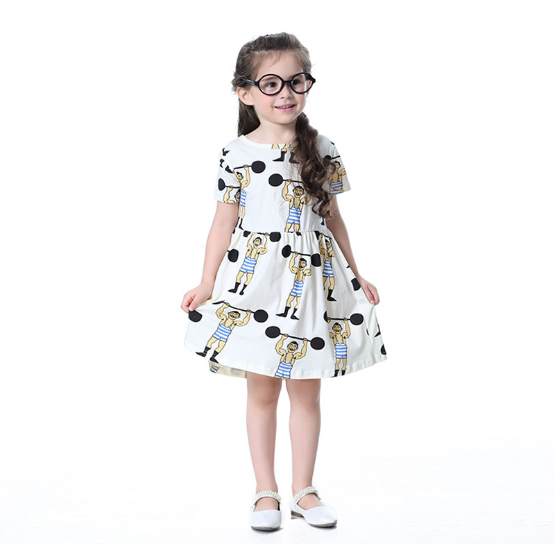 Kid Little Girls Dresses 2017 New Brand Summer Holiday Wear White Children Sports ...