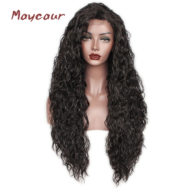 Loose Curly Synthetic Lace Front Wigs Heat Resistant Natural Hair