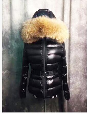 New 2017 Winter Womens Parka Luxury Raccoon Fur Hooded White Duck Down Jacket Thicken Female Black Red Coat Outerwear Clothes