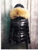 New 2017 Winter Women's Parka Luxury Raccoon Fur Hooded White Duck Down Jacket Thicken Female Black Red Coat Outerwear Clothes