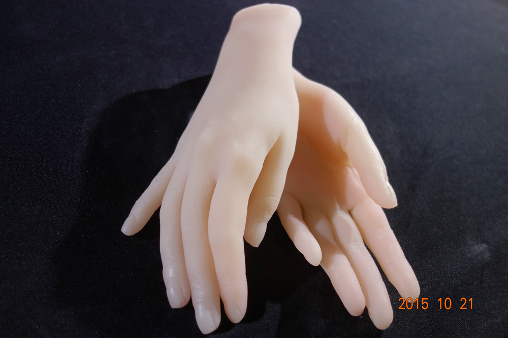beautiful young girls hands to display, solid silicone hot woman woman hands with model of the nails and hands ainhoa hands