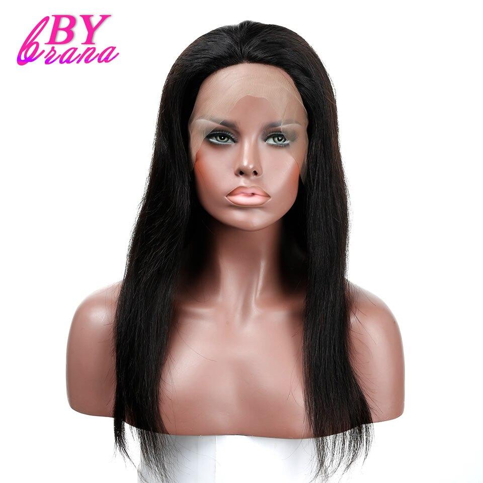 Синтетические волосы на кружеве человеческих волос парики предварительно сорвал бразильский Прямо Человеческих Волос Синтетические воло...