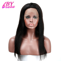 Lace Front Human Hair Wigs Pre Plucked Brazilian Straight Human Hair Lace Front Wigs Black Women Straight Lace Wigs Bybrana