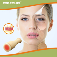POP RELAX real jade heating roller moxa facial beauty skincare device remove nasolabial folds wrinkles health care face massager