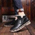 2016 zapatos de Los Hombres Nuevos hombres de invierno cálido botas antideslizantes zapatos de los hombres zapatos de algodón de algodón estilo caliente de los hombres de nieve botas