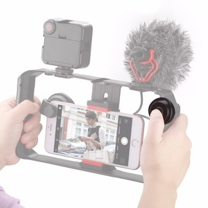 Image 5 - Ulanzi U Rig Pro Smartphone וידאו Rig w 3 נעל Mounts קולנוע מקרה כף יד טלפון וידאו אחיזת מייצב חצובה הר Stand