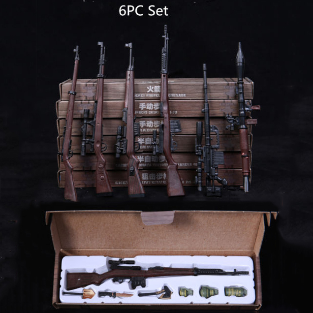 1:6 Scale Toy Gun Weapons 1/6th Assembled Rifle Models F/12