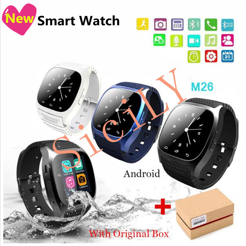 Gutsyman M26 Bluetooth Smart Watch wristwatch font b smartwatch b font with Dial SMS Remind Music