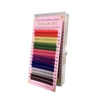 NAGARAKU 16 rijen/lade, 8 Kleuren, regenboog Gekleurde Wimper Extension, kleur wimpers, kleurrijke wimper extension