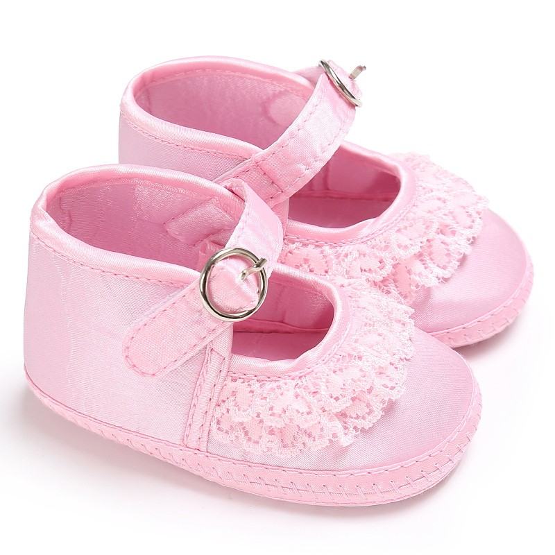 2017 Summer Baby Shoes Toddler Girls Lace Cute Print  Pre-walker Soft Sole Anti-Slip First Walker For 0 To 18 Months