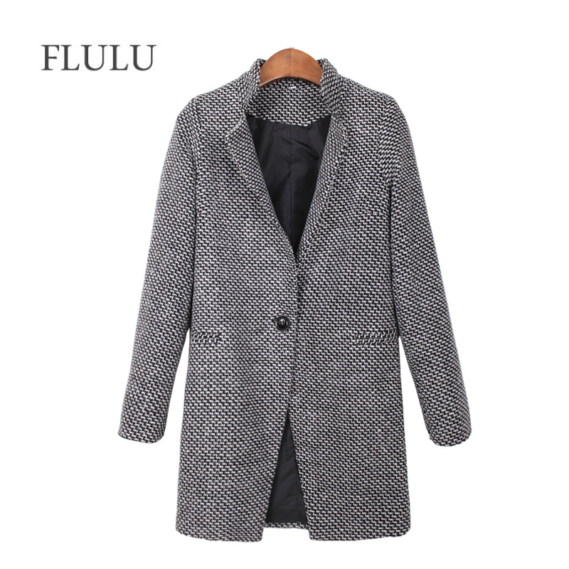FLULU 2019 Autumn Winter Women's Coat Fashion Casual Coat Female Elegant Jackets Long Sleeve Blazer Outwear Tops Plus Size 7XL