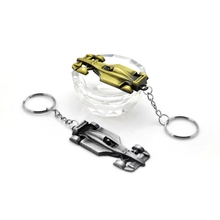 Original New Fashion Trinkets Vintage Gold Silver F1 Racing Car Keyring Men Gifts Jewelry Keychain Key Holder Ring