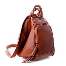 Женская мода рюкзак колледжа Ветер школьный samll ПУ кожа Пельмени сумка женская мода кисточкой отдыха и путешествий сумка