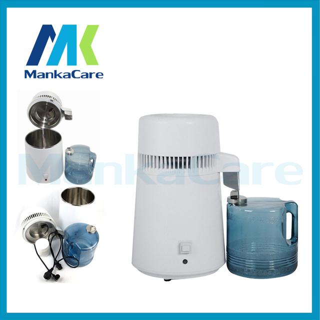 Manka produtos Clínica Dental Care-4 Litros Destilador, Interno do Aço Inoxidável Destilador de Água pura, pura Filtro Purificador