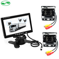 DC 12-36V Bus Truck Parking Monitor With 2 Camera , HD 7 Inch LCD Car Monitor + Rear View Camera + Front View Camera