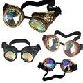 Frete Grátis Unisex Óculos Steampunk Óculos Óculos de Espelho À Prova de Vento Gótico Do Vintage Legal Do Punk Do Vapor óculos de Sol G005 Atacado