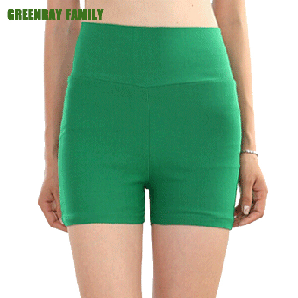 Summer Plus 5XL Women Stretch High Waist Safety Short Pants Bodycon Casual Render Big large Slim Skinny Mini Trouser Solid Color