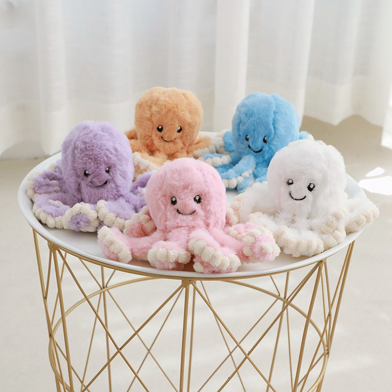 18cm Lovely Simulation <font><b>Octopus</b></font> Pendant Plush Stuffed <font><b>Toy</b></font> Soft Animal Cute Doll Children Gifts image