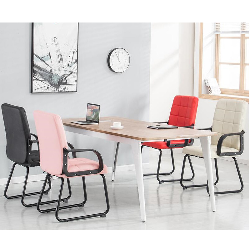 0120TB002  Comfortable modern simple style PU leather bow-shaped base office meeting conference reception computer chair 240337 ergonomic chair quality pu wheel household office chair computer chair 3d thick cushion high breathable mesh