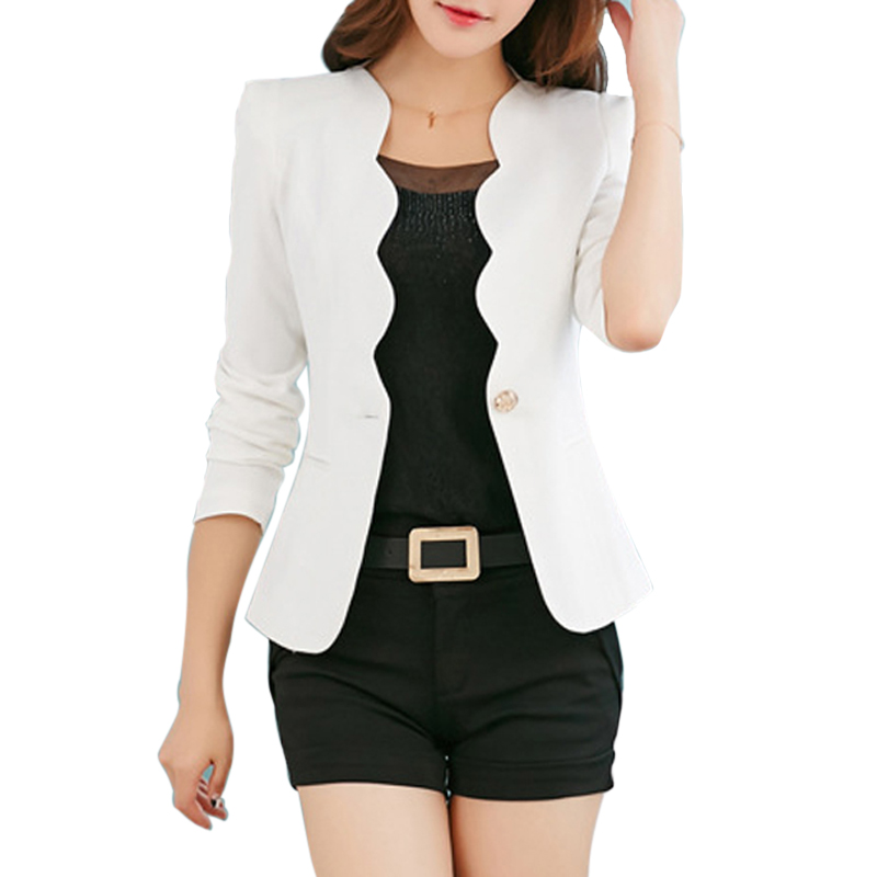 Litthing Suit Jacket Work-Wear Slim Blazer Coat Women Long-Sleeve Fashion Ladies OL