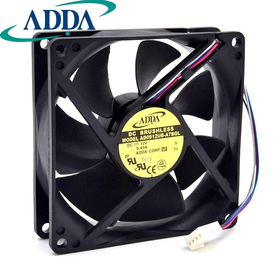 New 12025 12 12cm Winds Of Fan 12v 05a Ad1212ub A71gl 12012025mm Casing Alseye 120120