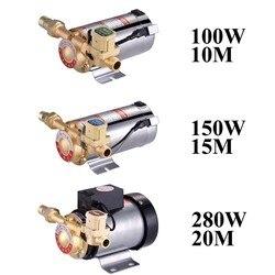 Bomba de refuerzo silenciosa doméstica para tubería de agua del grifo/calentador con interruptor de flujo automático, paneles de energía Solar, agua caliente y fría