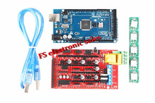 Mega 2560 R3 + 1pcs RAMPS 1.4 Controller + 5pcs A4988 Stepper Driver Module for 3D Printer kit MendelPrusa RAMPS 1.4 KIT
