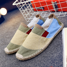 Casual Shoes For Men Summer Fisherman Loafers Fashion Canvas Sneakers Flat Luxury Barefoot