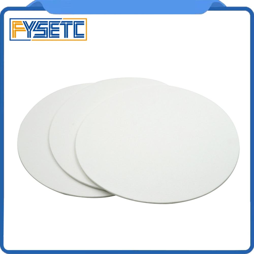 2 Stks 220*220*3mm Ronde Witte Verwarming Bed Blok Behoud Isolatie Katoen Voor Delta 3d-printers Nozzle Isolatie Onderdelen