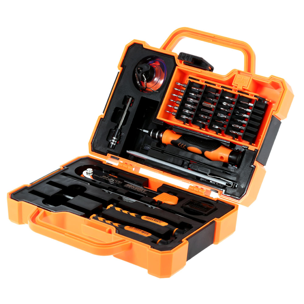 JAKEMY 45 in 1 Professional Electronic Precision Screwdriver Set Hand Tool Box Set Opening Tools for iPhone PC Repair Tools Kit new professional 38 in 1 mobile phone repair tools kit opening screwdriver for iphone 5s 5 4s 4 sumsang mulitifuntion tool set