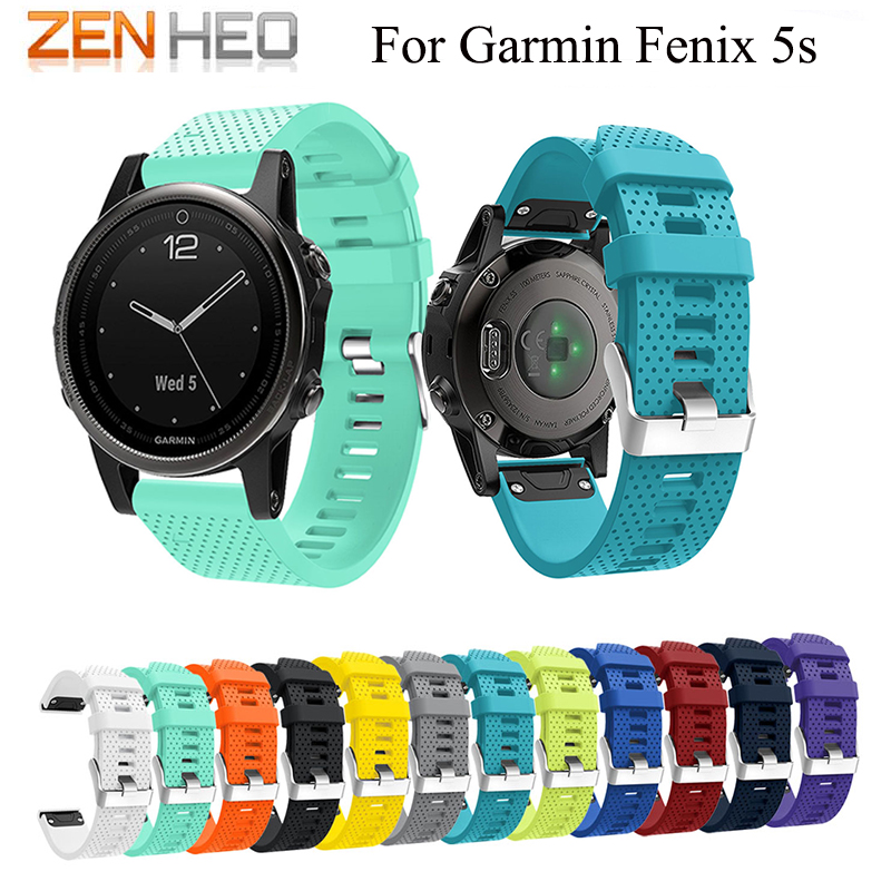 Watchband Strap Silicagel Soft Band Watchband Bracelet Wrist Strap for Garmin Fenix 5S Watch Quick Release Easyfit WatchBand